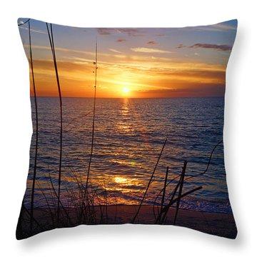 Florida Gulf Coast Sunset Throw Pillow