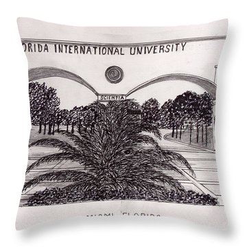 Florida International University Throw Pillow by Frederic Kohli