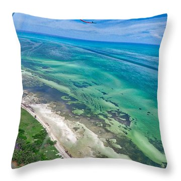 Florida Keys Throw Pillow