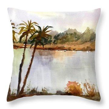 Florida Landscape Throw Pillow by Larry Hamilton