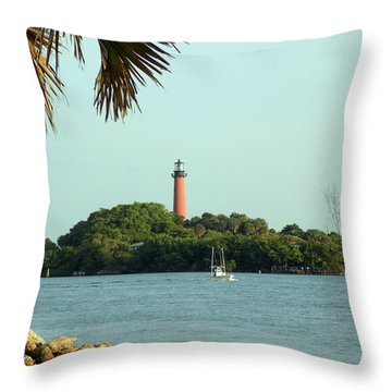 Florida Lighthouse 3 Throw Pillow