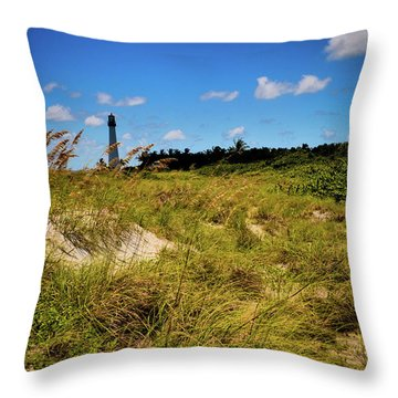 Throw Pillow featuring the photograph Florida Lighthouse  by Kelly Wade
