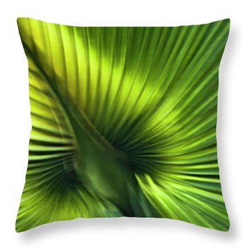 Florida Palm Frond Throw Pillow by Carolyn Marshall