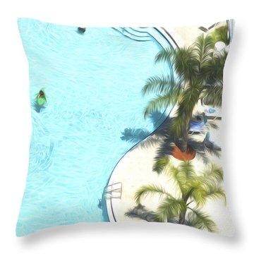 Florida Pool 33 Throw Pillow