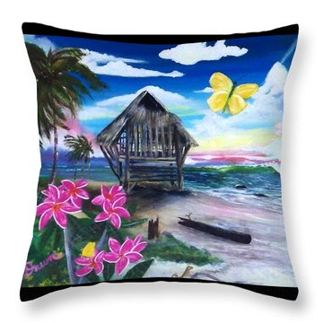 Florida Room Throw Pillow