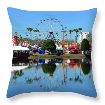Throw Pillow featuring the photograph Florida State Fair 2017 by David Lee Thompson