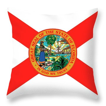Florida State Flag Throw Pillow
