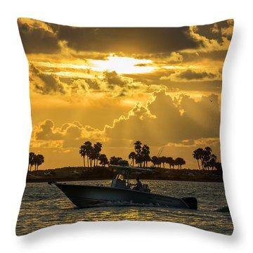 Florida Sunset-2 Throw Pillow