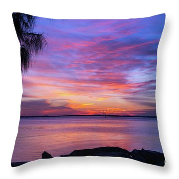 Florida Sunset #2 Throw Pillow