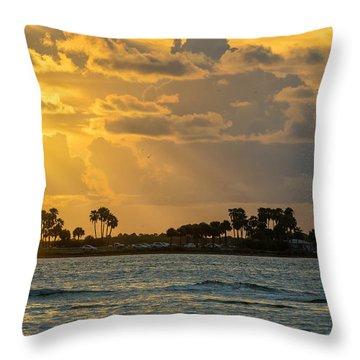 Florida Sunset-3 Throw Pillow