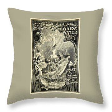 Throw Pillow featuring the digital art Florida Water by ReInVintaged