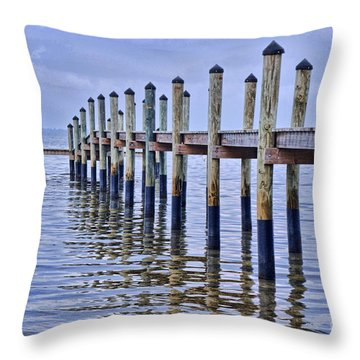 Floridian Pier  Throw Pillow