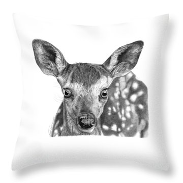 Florry The Fawn Throw Pillow by Abbey Noelle