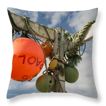 Throw Pillow featuring the photograph Flotsam And Jetsam by Brian Roscorla