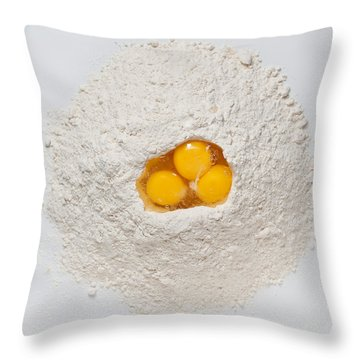 Flour And Eggs Throw Pillow