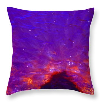 Flourescent Waters Throw Pillow