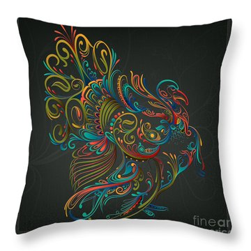 Flourish Turkey Throw Pillow