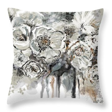 Floral Anxiety  Throw Pillow