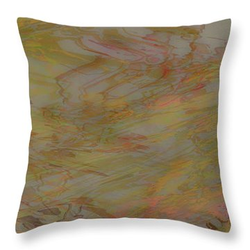 Flow Improvement In The Fog Throw Pillow