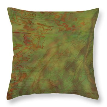 Flow Improvement In The Grass Throw Pillow