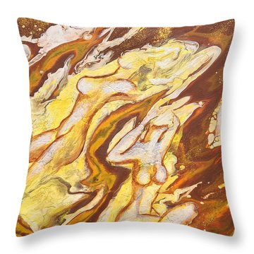 Flow Throw Pillow by Jacqueline Martin