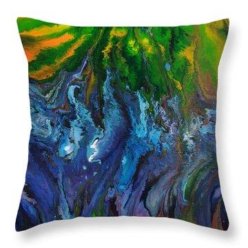 Flow Throw Pillow by Lori Kingston