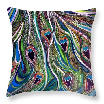 Flow Of Grace Throw Pillow