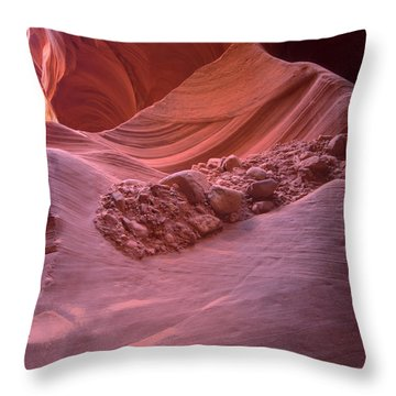 Flow Of Rocks Throw Pillow by Paul Cannon