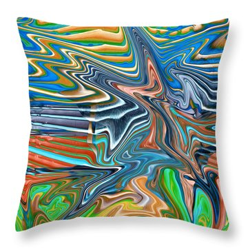 Flow Sketch Throw Pillow