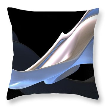 Flow Throw Pillow by Steven Lebron Langston