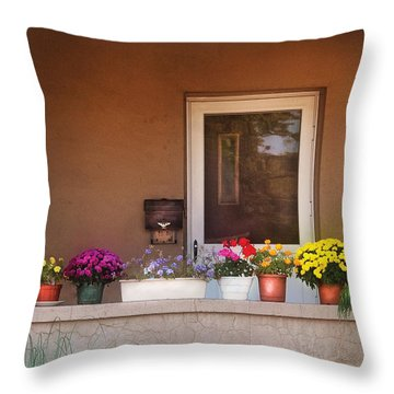 Flower - Still - Thinking Of Spring Throw Pillow by Mike Savad