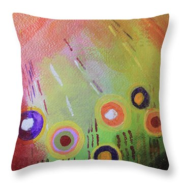 Flower 1 Abstract Throw Pillow