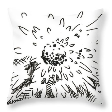Flower 2 2015 - Aceo Throw Pillow