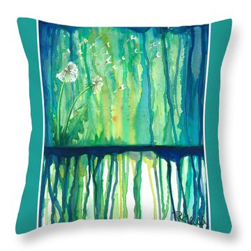 Flower #2 Throw Pillow by Rebecca Childs