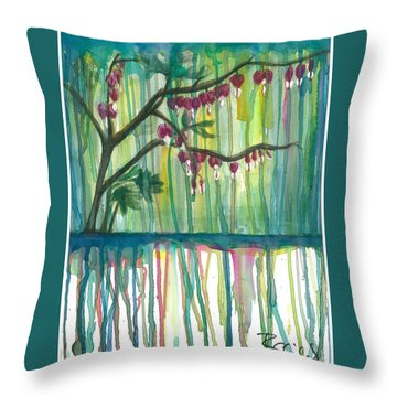 Flower #3 Throw Pillow by Rebecca Childs