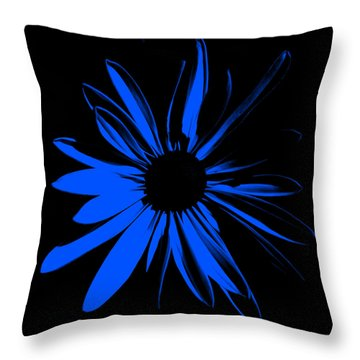 Throw Pillow featuring the digital art Flower 4 by Maggy Marsh