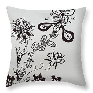 Flower 8 Throw Pillow