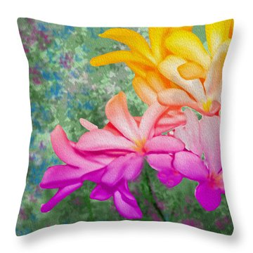 God Made Art In Flowers Throw Pillow