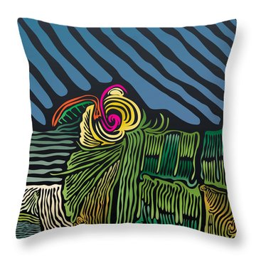 Flower And Field Throw Pillow