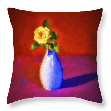 Flower And Vase  ... Throw Pillow