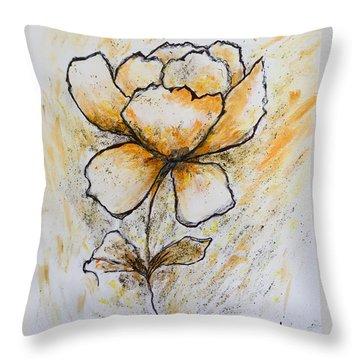 Flower-art Throw Pillow