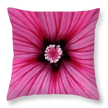 Flower At The Center Of Attention Throw Pillow