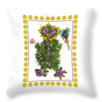 Throw Pillow featuring the digital art Flower Baby by Lise Winne