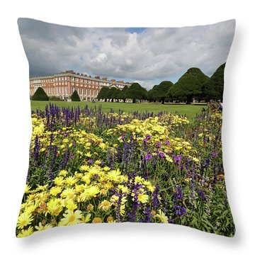 Flower Bed Hampton Court Palace Throw Pillow