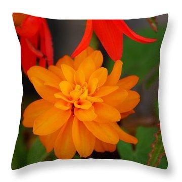 Throw Pillow featuring the photograph Flower by Bernd Hau