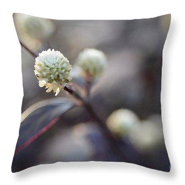 Flower Bokeh Throw Pillow