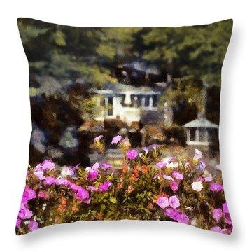Flower Box Throw Pillow