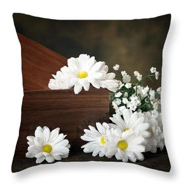 Flower Box Throw Pillow by Tom Mc Nemar