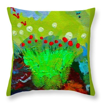 Flower Buds Detail From The Fairy Queen Throw Pillow