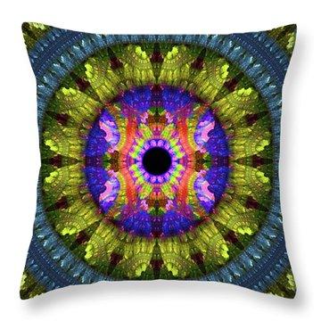 Flower Carpet Throw Pillow